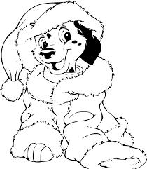 Coloriage Les 101 Dalmatiens Noel à Imprimer Sur COLORIAGES Info