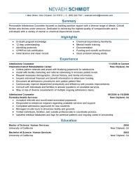 Admissions Counselor Resume Example