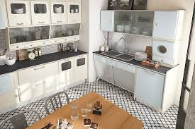 View In Gallery Beautiful Vintage Kitchen Borrows From The Design Elements Of 50s