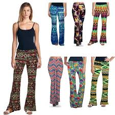 New Arrival Women Long Flare Pants Floral Print Trousers Female Boot Cut Elastic Slim S XL Free Sipping Wide Leg
