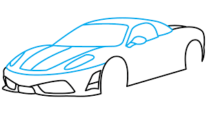 How to Draw Ferrari 360 Step by Step Drawing Tutorial step 3