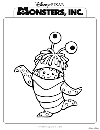 Monsters Inc Color Page Disney Coloring Pages Plate Sheetprintable
