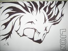 LION TRIBAL Drawing JVry96 © 2015 Nov 27 2012 Chainimage