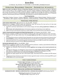 Warehouse Manager Resume Example Distribution Logistics Free Creative Templates