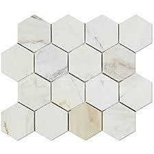 calacatta gold italian calcutta marble 3 inch hexagon mosaic