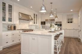 modern french farmhouse kitchen with carrara marble beige bathroom