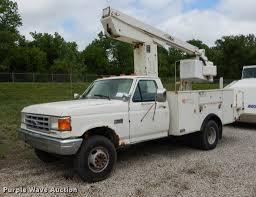 100 Ford Bucket Truck 1991 F450 Super Duty Bucket Truck Item DE1732 SOLD