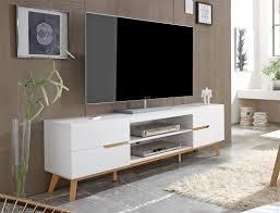 lowboard weiß eiche 169x56x40 cm tv board tv möbel