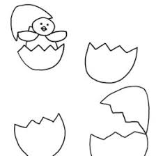Hatched Chicken Broken Egg Coloring Pages