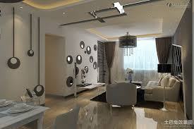 Simple Modern Apartment Living Room Decorating With Drum Shape Module 34