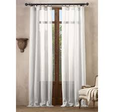 Restoration Hardware Estate Curtain Rods by Open Weave Sheer Linen Drapery In Optic White Restoration