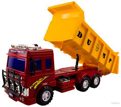 WolVol Big Dump Truck Toy For Kids With Friction Power (Heavy Duty ...
