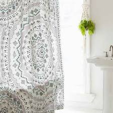 Plum & Bow Mia Medallion Shower Curtain from Urban Outfitters