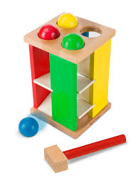amazon com melissa u0026 doug deluxe pound and roll wooden tower toy