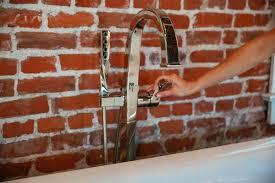 Delta Floor Mount Tub Filler Brushed Nickel by Faucet Com T70130 Bz In Brilliance Brushed Bronze By Brizo
