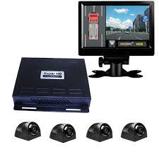 100 Birdview Details About HD 360 BirdView System Car DVR For Bus School Bus Truck Fire Engine LVDS7 LCD