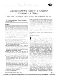 100 Jpgn Lubiprostone For The Treatment Of Functional Constipation