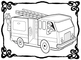 Mercedes Fire Engine Red - Coloring Pages - Print Coloring