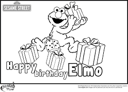 Perfect Elmo Birthday Coloring Pages 89 For Your Print