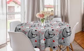 abakuhaus tischdecke kreis tischdecke abdeckung für esszimmer küche dekoration mitte des jahrhunderts atomic 50er jahre design kaufen