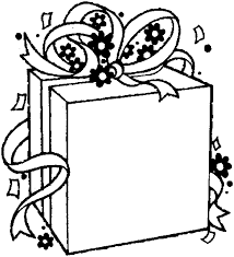 Birthday Gift Gifts Coloring Pages