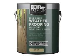 behr premium solid color weatherproofing wood stain home depot