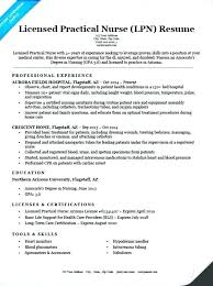 Nursing Resume Template Doc Licensed Practical Nurse Sample Cv