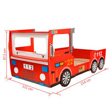 VidaXL Children's LED Fire Engine Bed 200x90 Cm Red Kid Toddler Fire ... Lovely Collection Of Toddler Firetruck Bed 6118 Toddler Bedroom Ideas Amazoncom Kidkraft Fire Truck Toys Games Amart Fniture The Freddy Single Is Loft Bedbirthday Present Youtube Eflyg Beds Best Homelegance B20281 With Tent Metal Rescuer Twin Kids And Youth Fire Truck Bed Kiddos Pinterest Trucks Plastic Red Fun Engine One Twin Bunk Bright B20231 Plastiko Car Wayfair