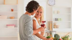 couples amour cuisine preparing food cooking hd stock 805 871 070