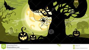 Owl Pumpkin Template by Halloween Vector Illustration Concept Template Scary Graveyard