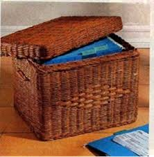 Amazon WICKER LETTER SIZE FILE BOX WITH LID BY JUMBL File