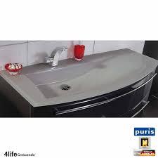 puris crescendo badmöbel als waschtisch set 120 cm glas rechts schmal