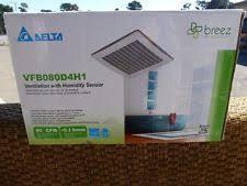 Humidity Sensing Bathroom Fan by Delta Breez Vfb080d4h1 80 Cfm Ventilation With Humidity Sensor Ebay