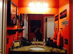 Harley Davidson Bathroom Themes by Harley Bathroom Would Be Awesome For A Guest Bath Or Man Cave