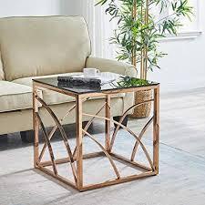 jymtom beistelltisch glas couchtisch sofatisch edelstahl kaffeetisch schreibtischmöbel hellgrauer teetisch aus gehärtetem glas für wohnzimmer