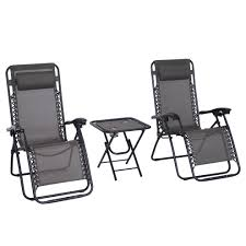 Outsunny 3pcs Folding Zero Gravity Chairs Sun Lounger Table Set W/ Cup  Holders Reclining Garden Yard Pool Grey Amazoncom Ff Zero Gravity Chairs Oversized 10 Best Of 2019 For Stssfree Guplus Folding Chair Outdoor Pnic Camping Sunbath Beach With Utility Tray Recling Lounge Op3026 Lounger Relaxer Riverside Textured Patio Set 2 Tan Threshold Products Westfield Outdoor Zero Gravity Chair Review Gci Releases First Its Kind Lounger Stone Peaks Extralarge Sunnydaze Decor Black Sling Lawn Pillow And Cup Holder Choice Adjustable Recliners For Pool W Holders