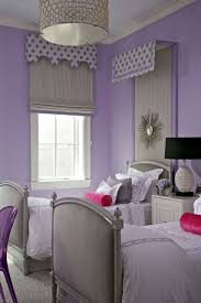 Contemporary Kids Design With Valance Over Gray Twin