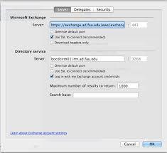 Oit Help Desk Fau by Exchange Mac Outlook Setting Florida Atlantic University