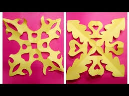 Art Easy Simple Paper Cutting Flower Art Step By Step Tutorial