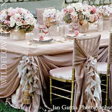 Pink Champagne Ivory Classic Vintage Wedding Decor