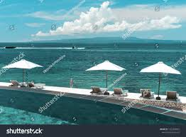 100 Absolute Beach Front Terrace Pool Overlooking Ocean Private Villa Stock Photo Edit Now