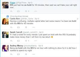 What Twitter is Saying about IRS hold times