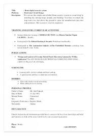 Download Resume Declaration Format In Example Of Get 50 Lovely Image