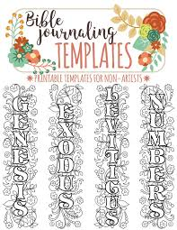 NAMES Of 66 BIBLE BOOKS Bible Journaling Printable Template Bundle Illustrated Faith Verse Study Bookmarks Stickers
