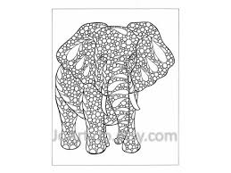 Zentangle Elephant Coloring Pages Printable