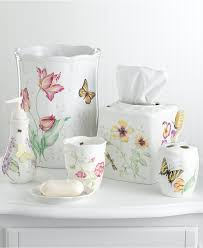 Coral Bathroom coral bathroom accessories with butterfly design for cute look