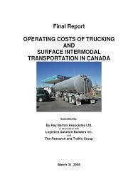 100 Tc Trucking 2008 Operating Costs Of Trucks In Canada In 2007 Semi Trailer