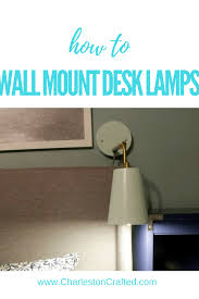 mounting desk ls on the wall charleston crafted
