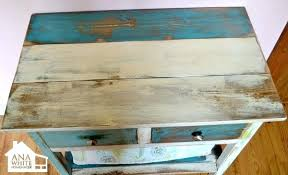 Painting Wood Furniture Reclaimed Patchwork Multi Color Black Without Sanding