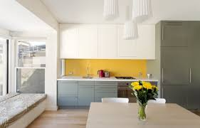 Living Room Yellow Kitchen Decorating Ideas Arch Lamp Round Chromed Pendant Lamps White Dining Table